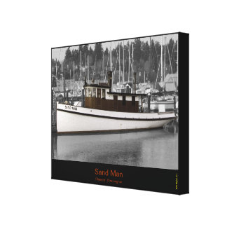 Sand Man tug boat wrapped canvas