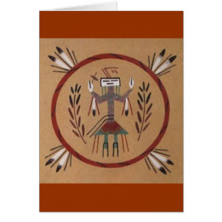 Sand Painting Native American Tribal Card