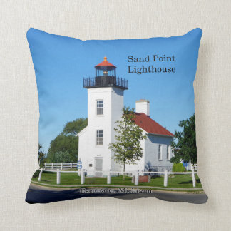 Sand Point Lighthouse square pillow