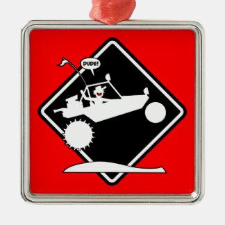 SAND RAIL AIR Caution Placard Metal Ornament