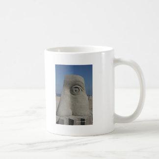 sand sculpture basic white mug