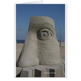 sand sculpture greeting card
