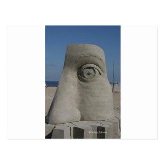 sand sculpture postcard