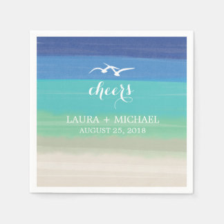 Sand, Sea and Seagulls | Wedding Disposable Napkins