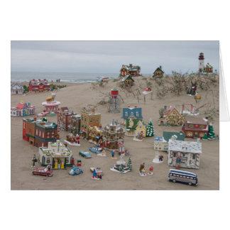 Sand, Sea, and Snow Village Christmas Card