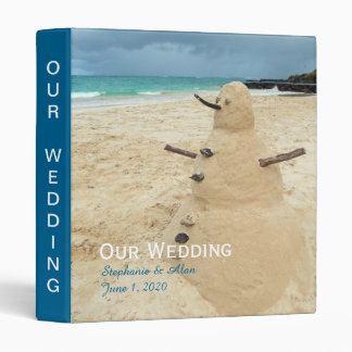 Sand Snowman Beach Wedding Binder