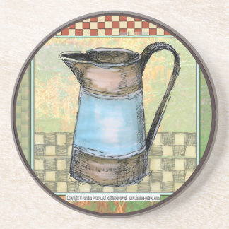 """Sand stone drink coaster """"French country, 4"""""""