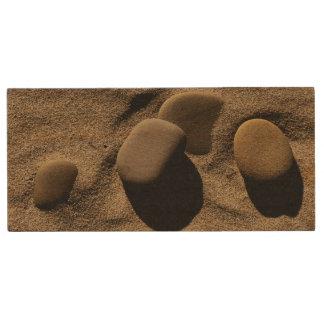 Sand Stones Wood USB 2.0 Flash Drive