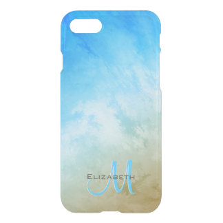 sand surf and sky abstract seaside monogrammed iPhone 8/7 case