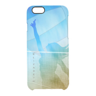 Sand surf and sky women's beach volleyball clear iPhone 6/6S case