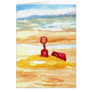 Sand Toys - Sand Castle Building on the Beach Card