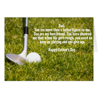 Sand Wedge With Golf Ball Father's Day Card