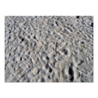 Sand with dirt and irregula patterns print
