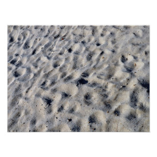 Sand with footprints texture print