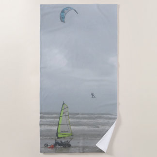 Sand Yachting & Kite Surfing Beach Towel