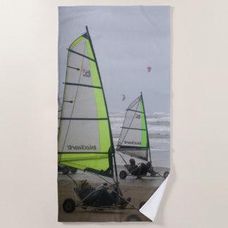 Sand Yachting two sailers Beach Towel