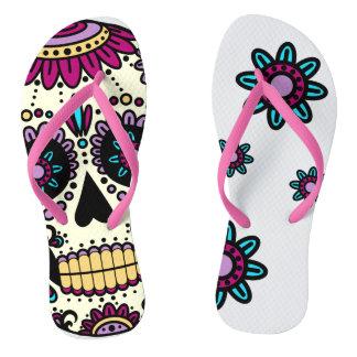 Sandal Fine Straps Skull Color Flores