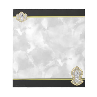 Sandal Of The Prophet (White) Marble & Gold Notepad
