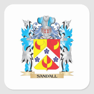 Sandall Coat of Arms - Family Crest Square Stickers