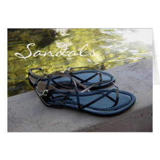 Sandals and Water Greeting Card