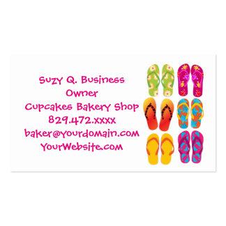 Sandals Colorful Fun Beach Theme Summer Business Card