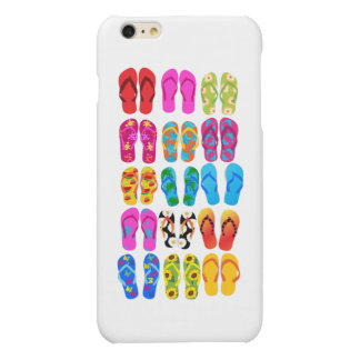 Sandals Colorful Fun Beach Theme Summer Matte iPhone 6 Plus Case