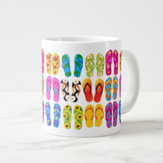 Sandals Colorful Fun Beach Theme Summer Large Coffee Mug