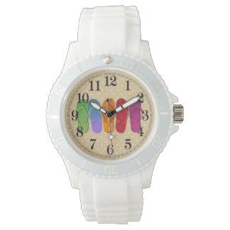 Sandals flip-flops beach party wrist watch