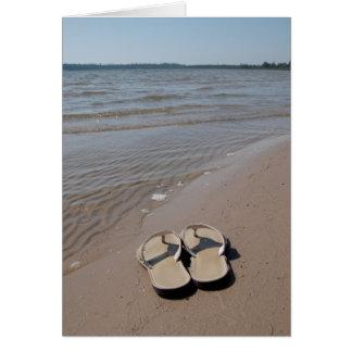 Sandals on the Beach Card