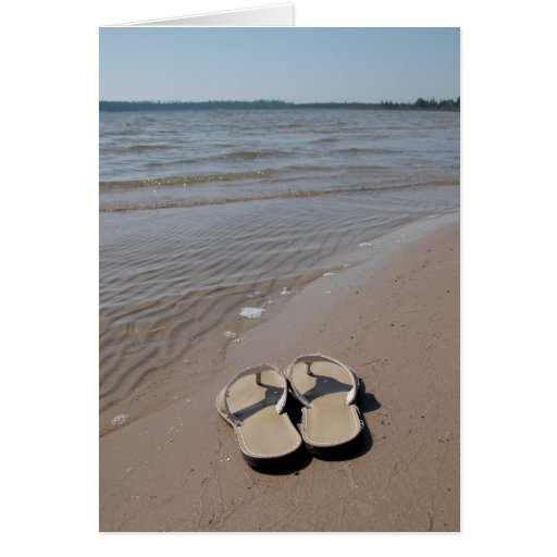 Sandals on the Beach Greeting Card