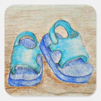 sandals square sticker