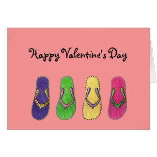 Sandals Valentine Card