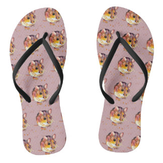 Sandals with handpainted mice