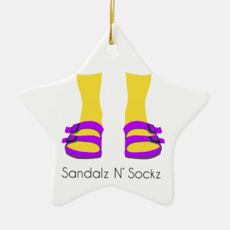 Sandalz N' Sockz Ceramic Star Ornament