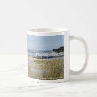 Sandbanks Chain Ferry, Poole, Dorset, UK phone box Coffee Mug