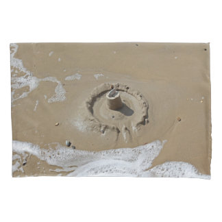 Sandcastle and shells pillowcase