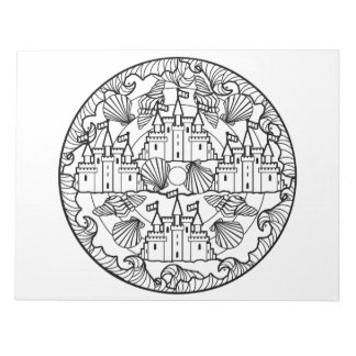 Sandcastle Beach Sea Mandala Coloring Book Pad
