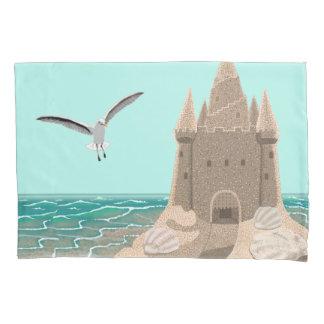 Sandcastle-Seagull pillow case