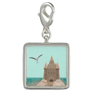 Sandcastle Seagull square charm