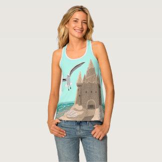 Sandcastle Seagull women's all-over-print tank
