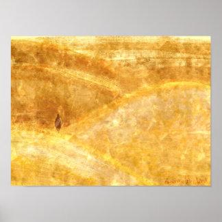 Sanddunes - Gold Poster