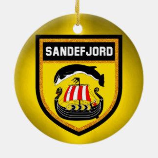 Sandefjord Flag Ceramic Ornament