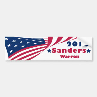 Sanders and Warren 2016 Bumper Sticker