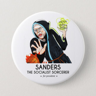 Sanders The Sorcerer 3 Inch Round Button