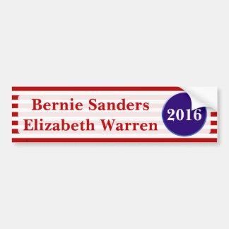 Sanders & Warren 2016 Bumper Sticker