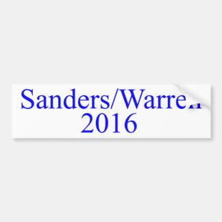 Sanders/Warren 2016 Bumper Sticker