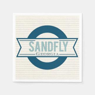 Sandfly Georgia Cocktail Napkin