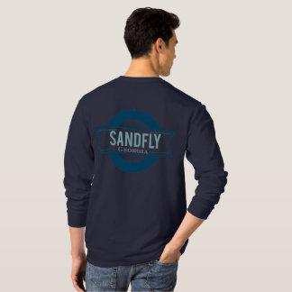 Sandfly Georgia Mens Navy Longsleeve T-shirt