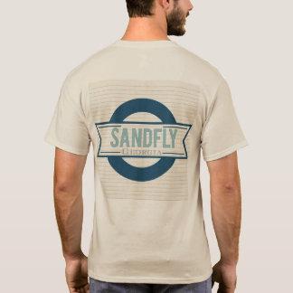 Sandfly Georgia Mens Sand T-shirt with lined logo