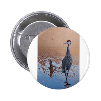 Sandhill Crane 2 Inch Round Button